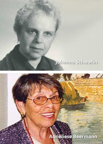 Stiftungsgründerinnen Johanna Schwerin und ihre Tochter Anneliese Beermann